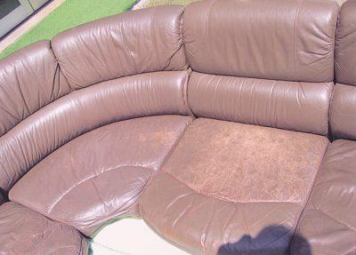 コーナーソファーの修理