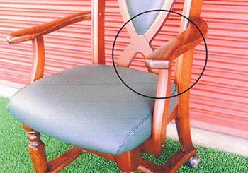 食卓椅子 座張替&木部修理